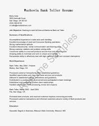 Remarkable Bank Teller Resume Template With Education Background