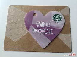 starbucks purple heart shaped gift card zero balance