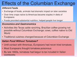 Ppt Columbian Exchange Powerpoint Presentation Free