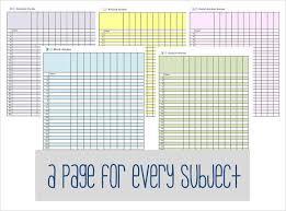 Excel Gradebook Template Shatterlion Info