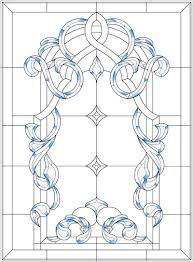 stained glass window pattern