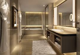luxury modern hotel bathrooms. Interesting Bathrooms Hotel Bathroom Master Bath Lighting Fuzzy Rug Towels Displayed  Lighted  Mirror And Luxury Modern Hotel Bathrooms Pinterest