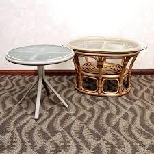 rattan side table and metal patio wicker australia