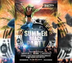 Summer Party Flyer Template I For Your Awesome Parties