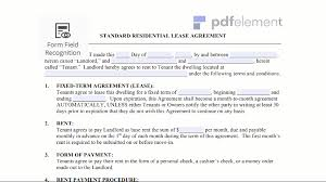 Residential Lease Agreement Template Free Download Edit Fill