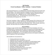 8 Sample Event Coordinator Resumes In Pdf Sample Templates