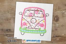 Embroidery Camper Designs Vintage Camper Bus Embroidery Applique Design Buses