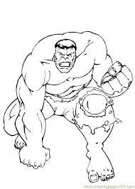 incredible hulk coloring page 9