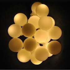 ball fairy lights. 40 led 4 metres battery powered white berry ball fairy lights