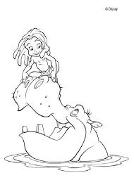 Small Picture Tarzan and the hippopotamus coloring pages Hellokidscom