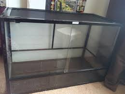 glass vivarium 3ft length 2 ft high mesh roof