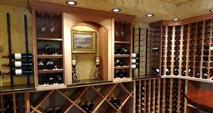 brilliant cellar wood and metal cellar and building a wine