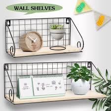 1 pc wall vase (without flower). Wood Wall Floating Shelves Wall Mounted Rustic Wood Wall Storage Shelf Decorative Shelves For Bedroom Living Room Bathroom Kitchen Office Walmart Com Walmart Com