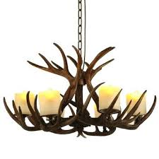 living engaging deer antler chandelier vintage light diy faux wonderful