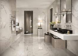 latest marble tile flooring for master bathroom layout with two wall mirrors using lights