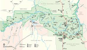 maps of grand canyon national park  my grand canyon park