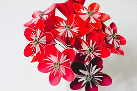 Paper Origami Flower Bouquet Amazon Com Red Origami Flower Bouquet Handmade