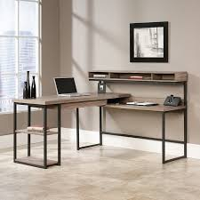 sauder transit collection multi tiered l shaped desk 42 12 h x 60 34 w x 59 d salted oak by office depot officemax