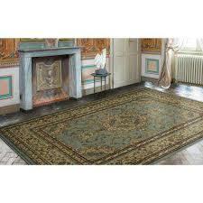 traditional oriental medallion light blue 8 ft x 10 ft area rug
