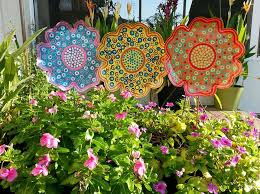 Gorgeous Metal Garden Flowers Outdoor Decor Metal Flower Garden Stake Large  Garden Flowerpowershowers