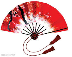 paper fan clipart. chinese fan in red paper clipart r