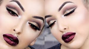 new years eve glitter cut crease makeup tutorial