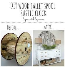 diy wood pallet spool rustic clock