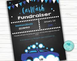 How To Make A Digital Flyer Editable Car Wash Benefit Fundraiser Flyer Poster Instant Digital Download School Fundraiser Elementary School Flyer