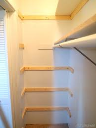 contemporary build closet shelf d i y custom shelving tutorial reality daydream adding brace for our in builder