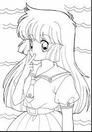 Wonderful Anime Girl Coloring Pages On Anime Wolf Girl Coloring