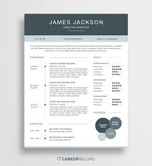 resume templates free creative resume template james career reload
