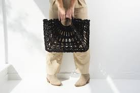 Audrey bag from farrowpeople.com. Black pandanus.Handmade in Bali |  Farrowpeople.com