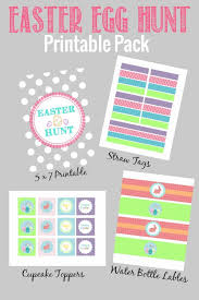 easter egg hunt template rabbits printable decor