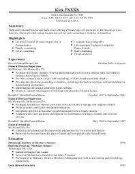 funeral director resume resume examples for funeral director sample customer