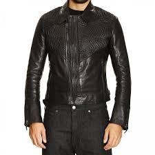 roberto cavalli men s black jacket chiodo leather enbroyed double zip roberto cavalli jacket 550t 809 giglio en