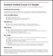 coaching resume example assistant football coach resume sample swim coaching examples create
