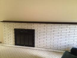 astonishing ideas update brick fireplace how can we update this painted brick fireplace