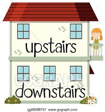 upstairs clipart.  Upstairs Opposite Wordcard For Upstairs And Downstairs On Upstairs Clipart A