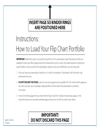 Fillable Online Instructions How To Load Your Flip Chart