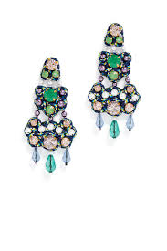 blue chandelier earrings by tory burch accessories for 30 the runway