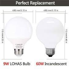 5000k Led Light Bulbs Led Light Bulb Lamp 9 Watt Globe G25 60watt Vanity Light Bulbs Equivalent Daylight 5000k Base E26 810lm For Home Lighting 3 Pack