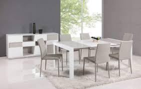 Trendy White Modern Dining Room Sets Round Table In A Dark With - Round modern dining room sets