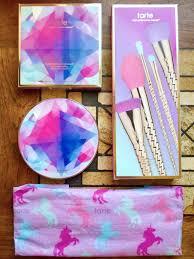 unicorn brushes tarte. tarte unicorn brush set and make believe in yourself eye \u0026 cheek palette brushes