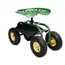 green garden cart with heavy duty tool