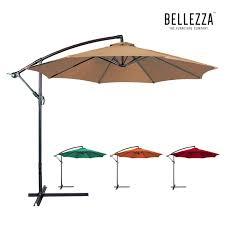bellezza premium patio umbrella 10 feet patio tilt w crank outdoor cantilever 5 5 x 12 x 76 5