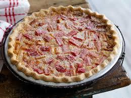 rhubarb custard pie recipe food