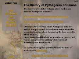 student page title introduction task process evaluation conclusion  student page title introduction task process evaluation conclusion credits the history of pythagoras of samos part