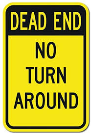 Decorative Yard Signs Yard Signs Dead End No Turn Arround SignFunny Decorative Yard 74