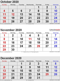 Blank Dec 2020 Calendar November 2020 Calendars For Word Excel Pdf