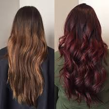 Light Cherry Brown Hair From Faded Chocolate And Copper Brown To Dark Cherry Hair